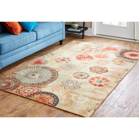 Porch & Den Park Circle Bexley Indoor/ Outdoor Medallion Area Rug - 7'6 x 10'