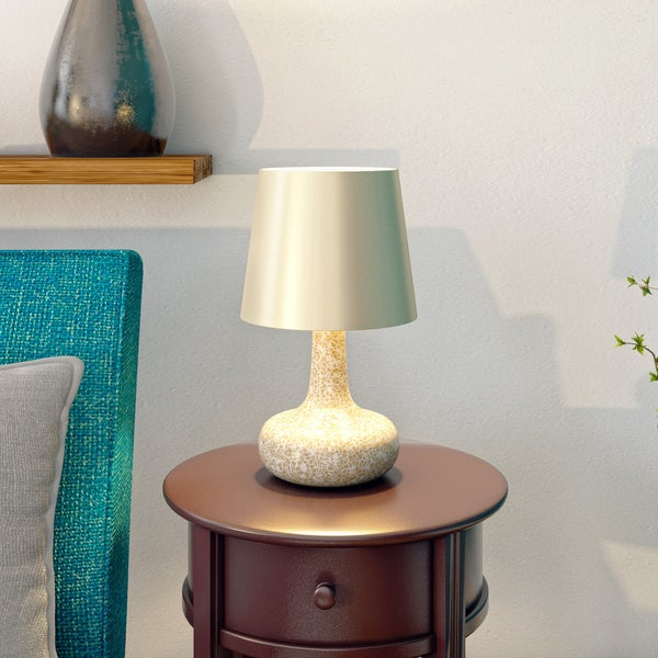 The Curated Nomad Blakey Mosaic Tiled Glass Table Lamp