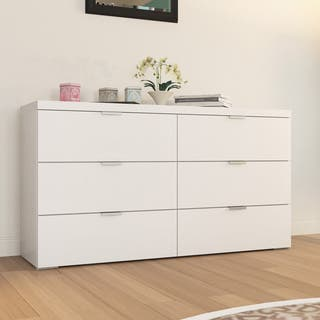 porch den third ward summerfest high gloss 6 drawer chest - White Bedroom Dresser