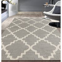 Porch & Den Marigny Music Trellis Grey Area Rug (7'6 x 9'5)