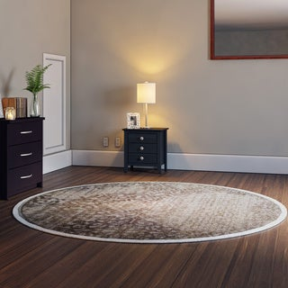Porch & Den Pearl District Burnside Bone Area Rug (7'10 Round)