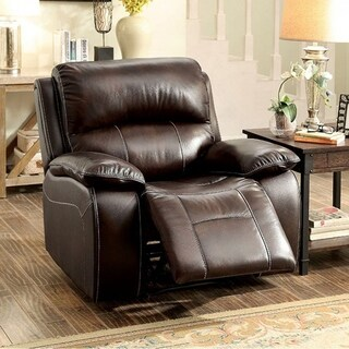RUTH Transitional Rocker Recliner Chair, Brown Color
