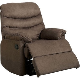 Plesant Valley Transitional Recliner Chair With Microfiber, Brown
