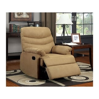 Plesant Valley Transitional Recliner Chair With Microfiber, Multicolor