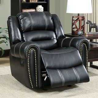 Frederick Transitional Glider Recliner Single Chair, Black Finish