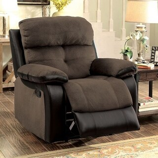 HADLEY I Transitional 1 Recliner Chair, Brown