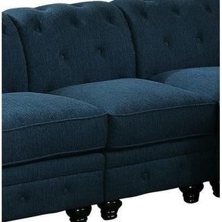 Benzara Stanford II Teal Fabric Sofa Chair