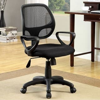 Sherman Contemporary Style Office Chair, Black|https://ak1.ostkcdn.com/images/products/17970761/P24146282.jpg?impolicy=medium