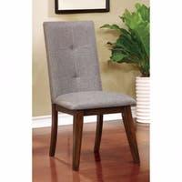 Abelone Mid-Century Modern Style Side Chair, Walnut-Set Of 2