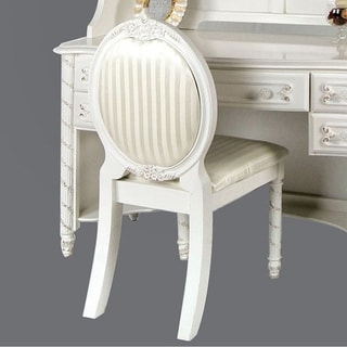 Alexandra Traditional Chair, Pearl White
