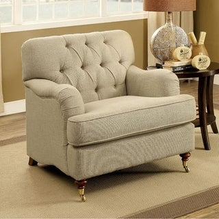 Laney Traditional Chair In Beige Fabric