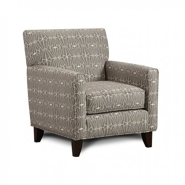 Parker Contemporary Style Chair With Crystal Pattern