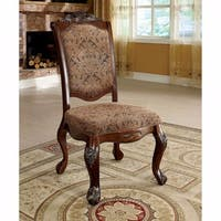Cromwell Traditional Side Chair, Cherry Finish, Set Of 2