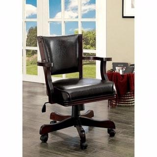 Rowan Contemporary Arm Chair, Dark Cherry Finish