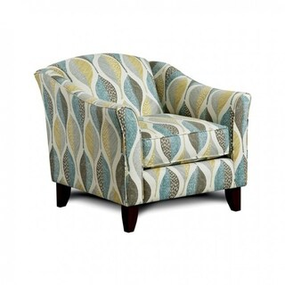 Brubeck Transitional Chair With Leaf Pattern