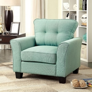 Claire Transitional Chair, Blue