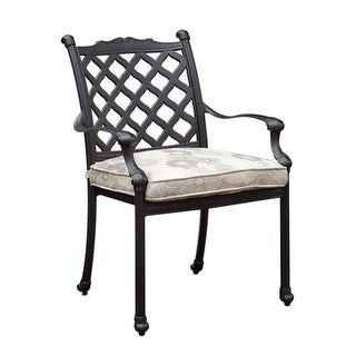 Chiara I Contemporary Metal Arm Chair With Fabric Cushion