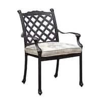 Chiara I Contemporary Metal Arm Chair With Fabric Cushion
