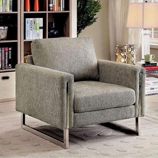 Lauren II Transitional Single Chair In Gray Fabric