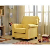 Belem Transitional Single Chair With yellow Flax Fabric