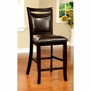 Woodside II Transitional Counter Height Chair Espresso, Set Of Two