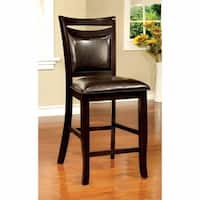 Woodside II Transitional Counter Height Chair Expresso, Set Of Two