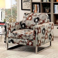 Lauren II Transitional Pattern Chair With Fabric Without Pillow