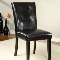 Boulder I Contemporary Side Chair, Set Of Two, Black