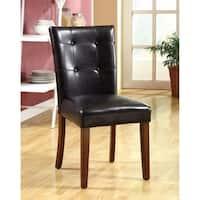 Little Rock I Transitional Side Chair, Dark Oak, Set of 2
