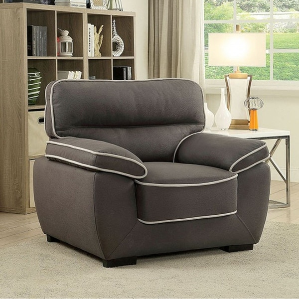 Shop Elly Contemporary Chair Graphite Finish Free