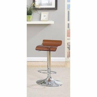 Trixy Contemporary Bar Chair Brown Color With Acrylic Seat, Set of 2