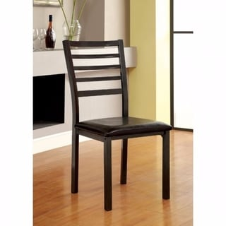 Colman Transitional Side Chair, Black, Set of 2