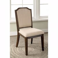 Haylee Transitional Side Chair, Wire Brushed Brown, Set of 2