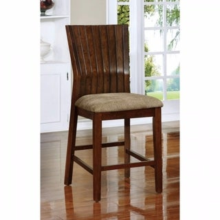 MONTREAL II Transitional Counter Height Chair With fabric, Set of 2
