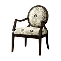 Cairns II Transitional Cairns Accent Chair, fabric, Espresso Finish