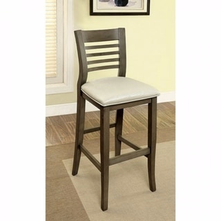 Dwight II Transitional Bar Chair, Gray Finish, Set of 2