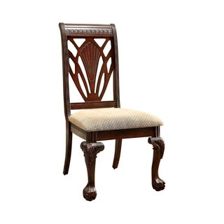 Petersburg I Traditional Side Chair, Cherry Finish, Set of 2