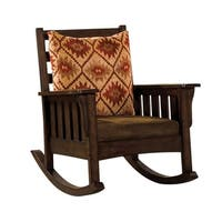 Morrisville Traditional Accent Chair, Dark Oak