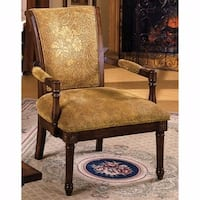 Stockton Traditional Occasional Chair, Antique Oak