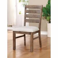 LIDGERWOOD Industrial Side Chair With Fabric Cushion, Set of 2