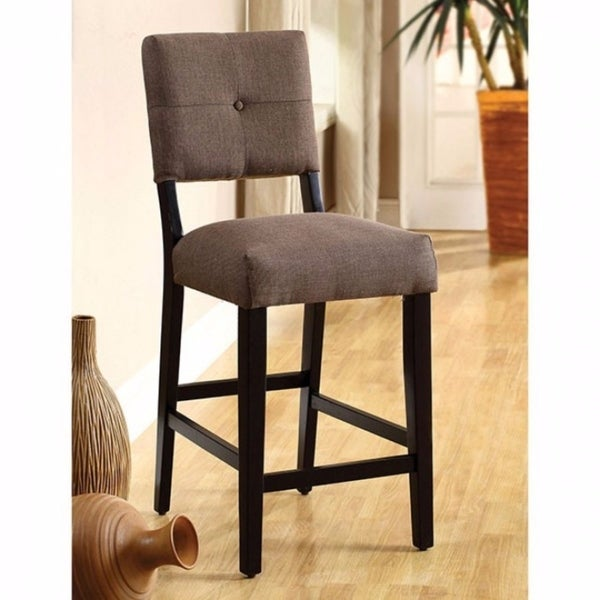 Bay Side II Contemporary Counter Height Chair, Espresso, Set Of 2
