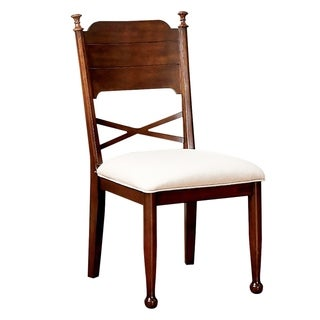 Descanso Cottage Side Chair, Brown Cherry Finish, Set of 2