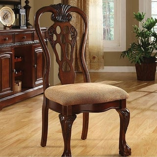 George Town Traditional Side Chair, Cherry Finish, Set Of 2