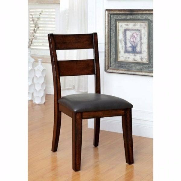 Dickinson I Cottage Side Chair Withpu Seat, Dark Cherry, Set of 2