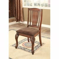 Johannesburg I Traditional Side Chair, Brown Cherry, Set of 2