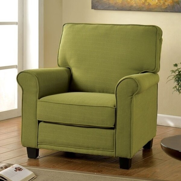 Belem Transitional Single Chair With Green Flax Fabric