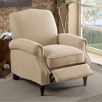 PAULETTE Transitional Push Back Chair, Beige