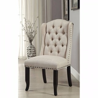 Sania I Rustic Antique Black Wood Side Chairs (Set of 2)