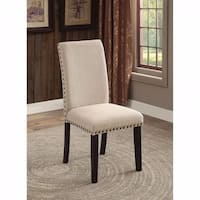 Dodson I Transitional Side Chair, Ivory, Set of 2