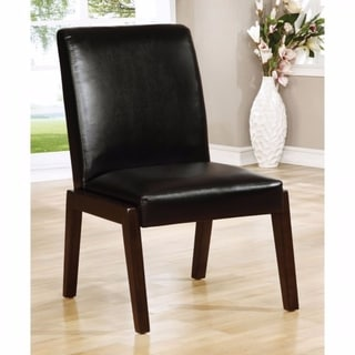 BELINDA I Transitional Side Chair, Dark Cherry, Set of 2